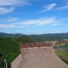 周匝茶臼山城から北西の大山を望む