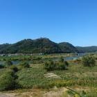 吉井川越しに北側から