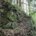 居館跡と思われる石垣