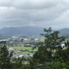 沼田城址公園より街を見下ろす