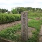 主郭南西部の城趾碑
