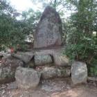 本丸跡の明智城址碑