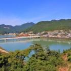 本丸から熊野川を望む