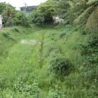 本丸北側水堀、木橋より見る