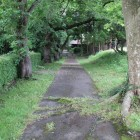 金ヶ崎城北上川沿い通路