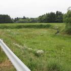 東北道西側、北西の鳥海柵発掘調査途中の地