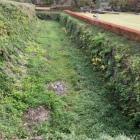 本丸石垣、堀