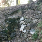 主郭下の石垣