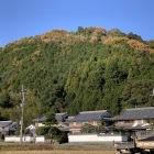 城山遠景(幟が立つ三郭が見えます)