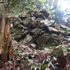 居館地区西端の石垣