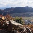 大石垣の上の景観