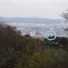 城の北の端にある展望台から見える小田原城
