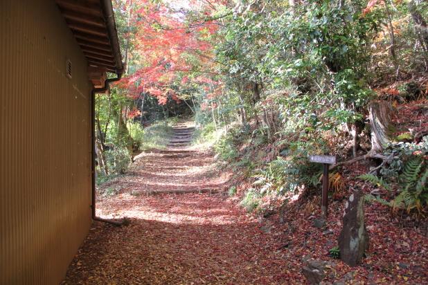 御嶽神社拝殿からの登城口