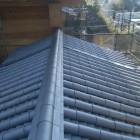 迂回路から大手門の瓦屋根