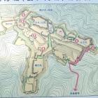 現地案内図(西方城)