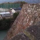 上からの高石垣