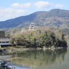 肘川橋から見た大洲城
