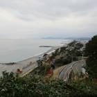 桂浜から延びる海岸線