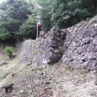 搦手門横の大石垣
