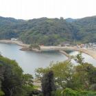 本丸からの眺望 外ノ浦の港
