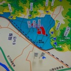 羽柴秀吉による高松城水攻めの図