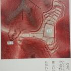航空レーダー測量による篠の丸城の全容(説明板より)。