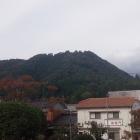 山崎城からみた篠の丸城。