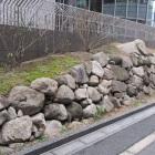 同曲輪復元石垣(ドーンセンター)