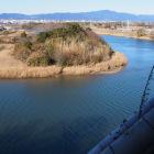 鉄櫓四階から見える豊川対岸。