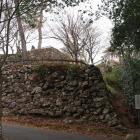 登城道沿いの石垣