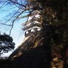 本丸堀の中から見た鉄櫓