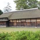 青森市中世の館敷地に在る坪田家住宅を復元修復移築