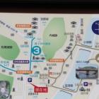 駐車場に有る観光マップ
