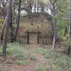 5曲輪辺りから冠木門、本丸方面を望む