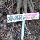 千磐神社から登った堀切の表示