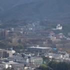 神楽尾城から見た津山城