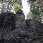 主郭北側巨石壁