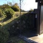 門内部の石垣