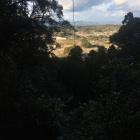 砦をのぞむ眺望