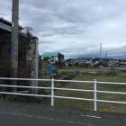 畑にポツンと門跡