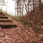 古城の道途中にある大堀切