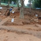 発掘現場の全景