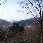 虫川城本丸南側からの眺望