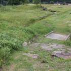館上段曲輪から東側、庭園跡方向