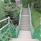 本郭笹郭間の土橋、左右堀切、仮設通路