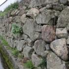 同左、反対側の石垣城塁と水堀の名残
