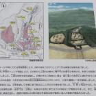 名胡桃城の発掘調査内容と復元想像図