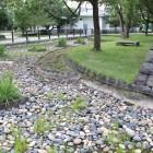 本丸南側堀跡の地面表示Ⅱ