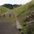 館表門前の登城路