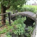 本丸南側濠、水路の橋